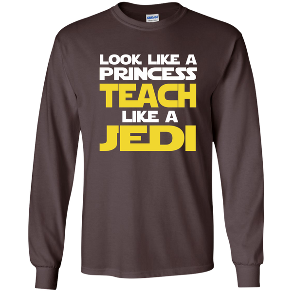 Look Like a Princess Teach Like a Jedi LS Ultra Cotton Tshirt - TeachersLoungeShop - 3