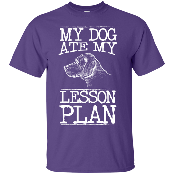 My Dog Ate my Lesson Plan  Cotton T-Shirt - TeachersLoungeShop - 5