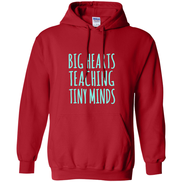 Big Hearts Teaching Tiny Minds Pullover Hoodie 8 oz - TeachersLoungeShop - 11
