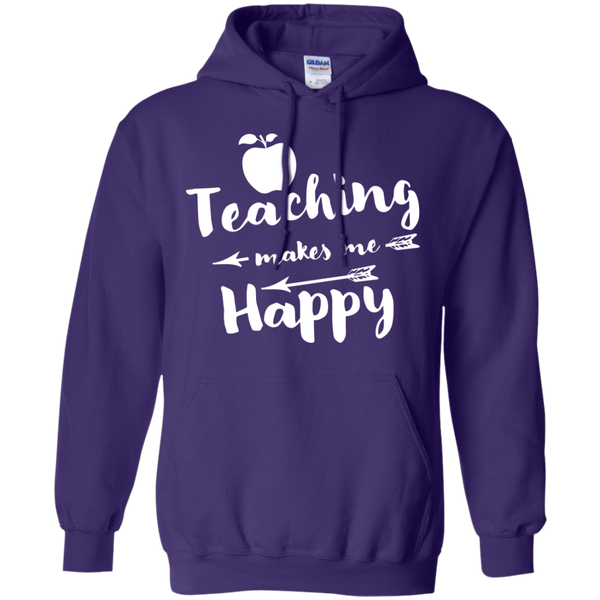 Teaching makes me Happy     Hoodie 8 oz - TeachersLoungeShop - 12