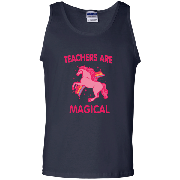 Teachers are Magical 100% Cotton Tank Top - TeachersLoungeShop - 3