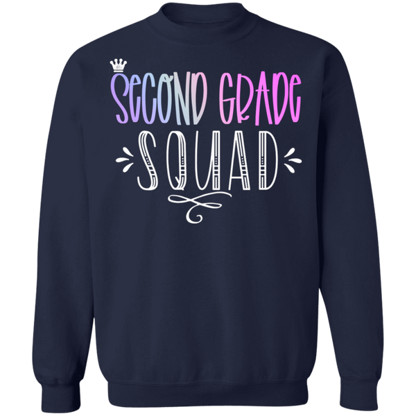 Second Grade Squad Crewneck Pullover Sweatshirt  8 oz.