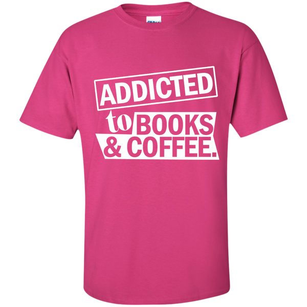 Addicted to Books and Coffee Cotton T-Shirt - TeachersLoungeShop - 7