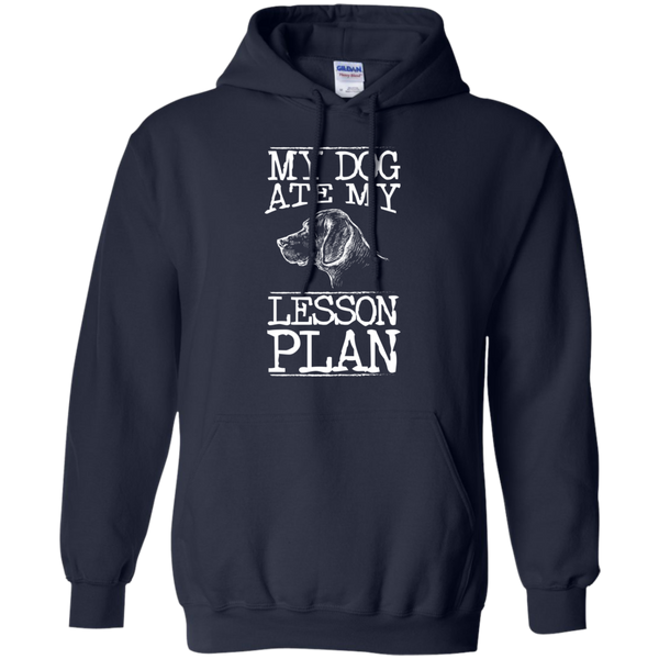My Dog Ate my Lesson Plan  Hoodie 8 oz - TeachersLoungeShop - 2
