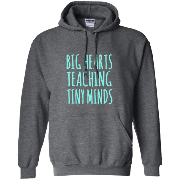 Big Hearts Teaching Tiny Minds Pullover Hoodie 8 oz - TeachersLoungeShop - 3