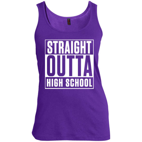 Straight Outta High School Women's Scoop Neck Tank Top - TeachersLoungeShop - 5