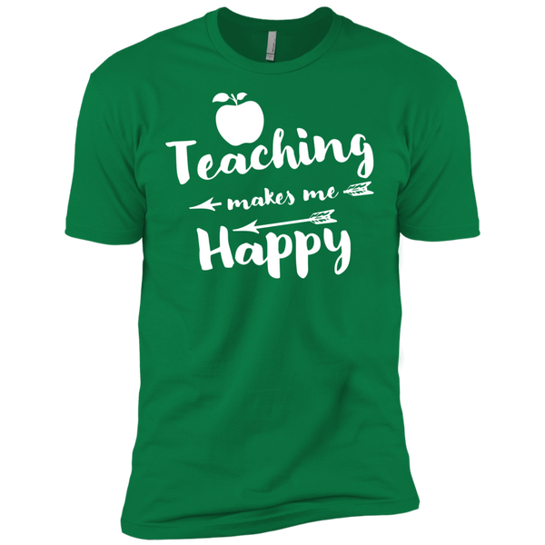 Teaching makes me Happy    Level Premium Short Sleeve Tee - TeachersLoungeShop - 6