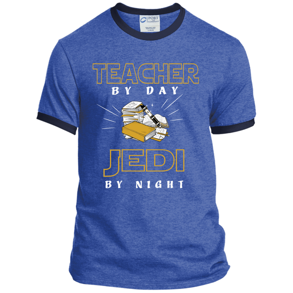 Teacher By Day Jedi By Night Ver2 Ringer Tee - TeachersLoungeShop - 4