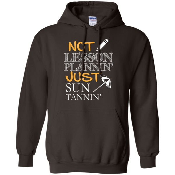 Not Lesson Plannin' Just Sun Tannin'   Hoodie 8 oz - TeachersLoungeShop - 5