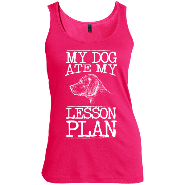 My Dog Ate my Lesson Plan   Scoop Neck Tank Top - TeachersLoungeShop - 5