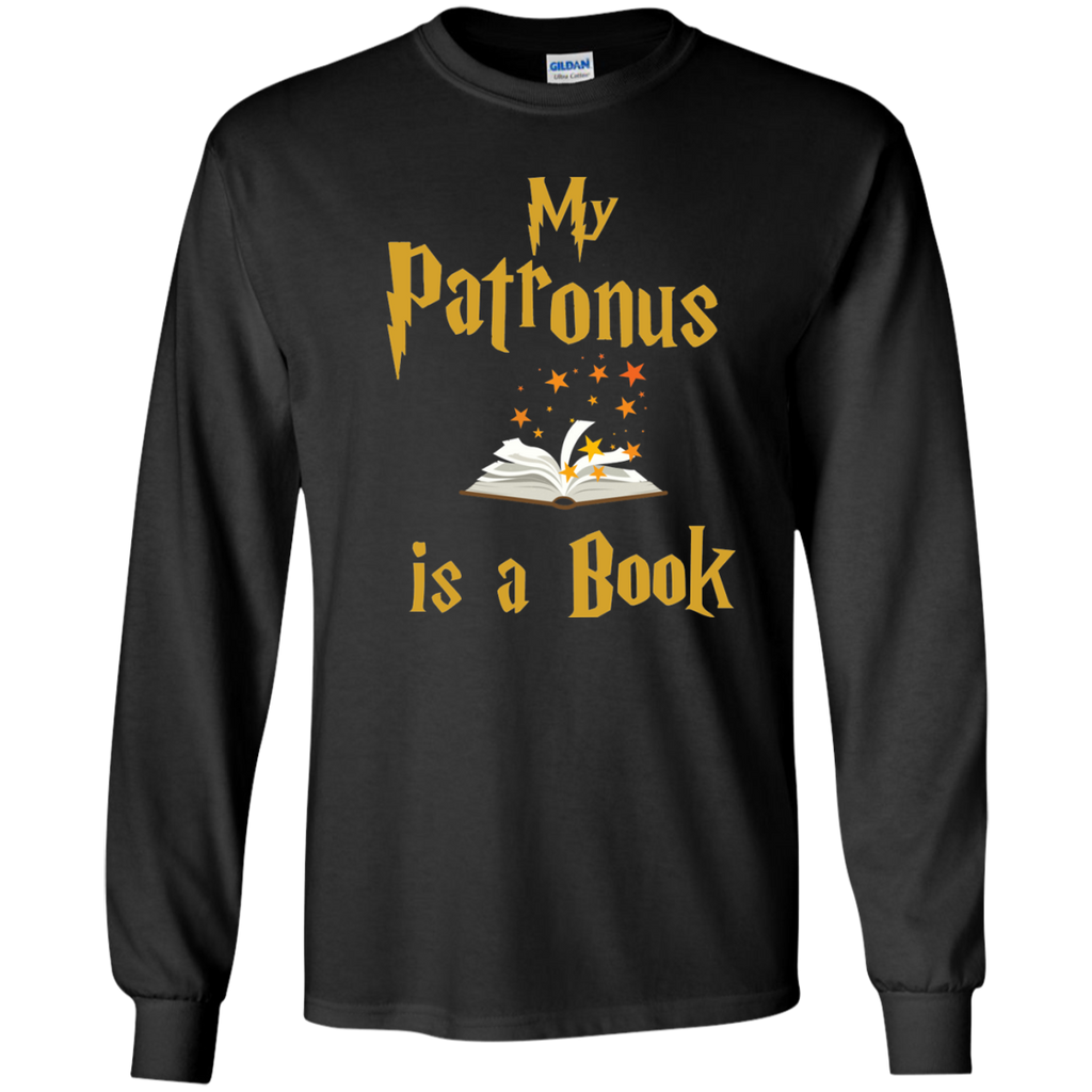 My Patronus is a Book LS Ultra Cotton Tshirt - TeachersLoungeShop - 1
