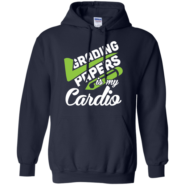 Grading papers is my cardio   Hoodie 8 oz - TeachersLoungeShop - 2