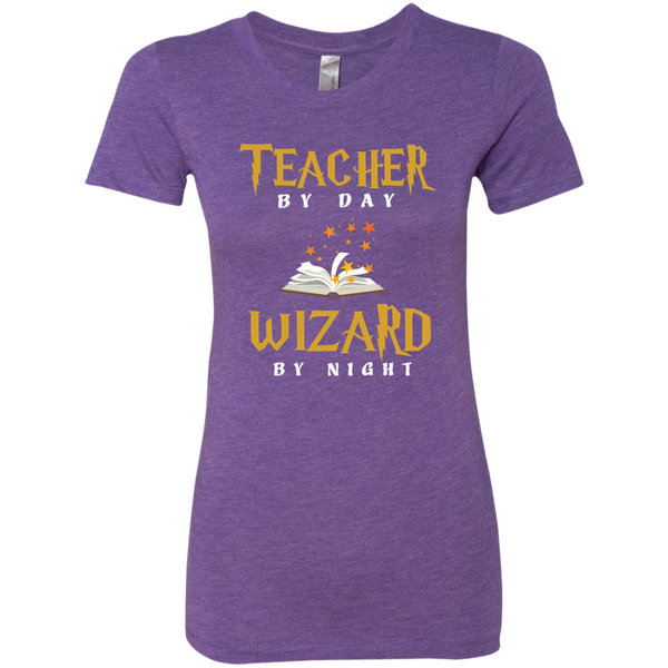 Teacher by Day Wizard by Night Next Level Ladies Triblend T-Shirt - TeachersLoungeShop - 3