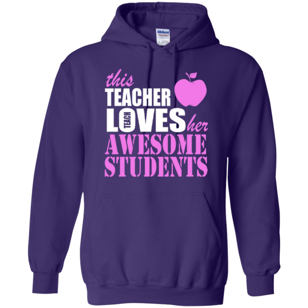 This Teacher Loves her Awesome Students T-shirt Hoodies - TeachersLoungeShop - 10