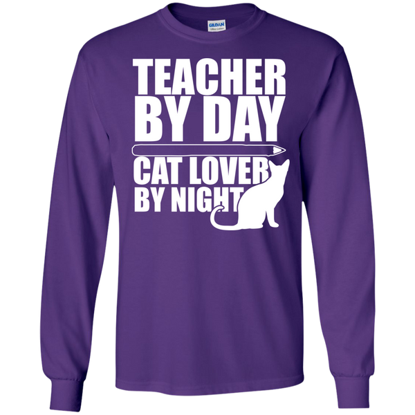 Teacher by Day Cat Lover by Night Ultra Cotton Tshirt - TeachersLoungeShop - 11