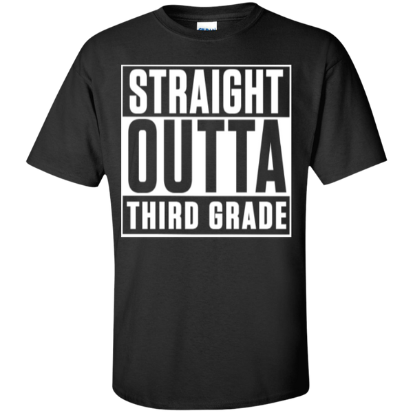 Straight Outta Third Grade   T-Shirt - TeachersLoungeShop - 1