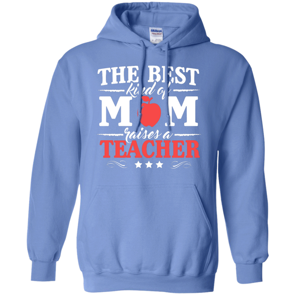 The Best kind of Mom raises a Teacher Hoodie 8 oz - TeachersLoungeShop - 4