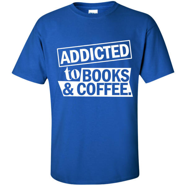 Addicted to Books and Coffee Cotton T-Shirt - TeachersLoungeShop - 9