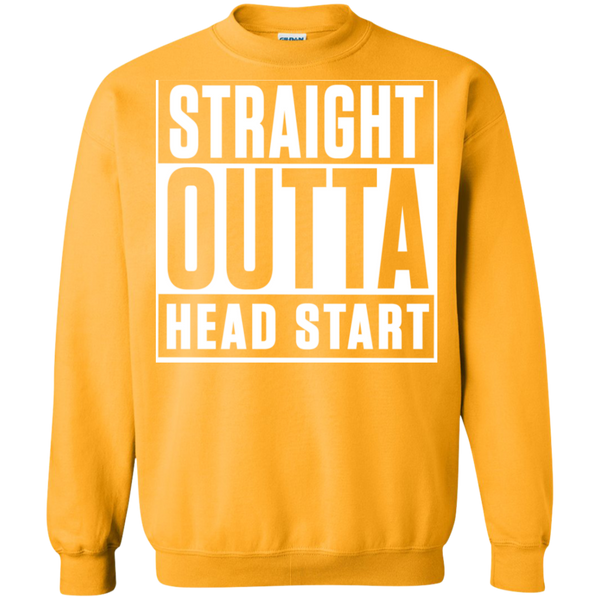 Straight Outta Head Start  Crewneck Pullover Sweatshirt  8 oz - TeachersLoungeShop - 8