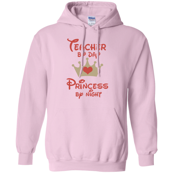 Teacher by Day Princess by Night Pullover Hoodie 8 oz - TeachersLoungeShop - 6