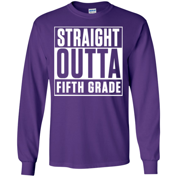 Straight Outta Fifth Grade LS  Cotton Tshirt - TeachersLoungeShop - 7