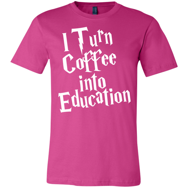 I turn coffee into education   T-Shirt