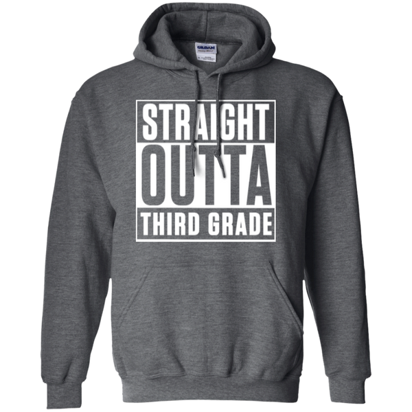 Straight Outta Third Grade  Hoodie 8 oz - TeachersLoungeShop - 3