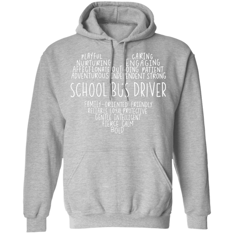 School Bus Driver Heart Pullover Hoodie