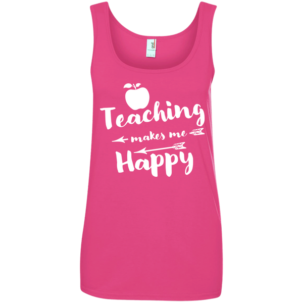 Ladies' 100% Ringspun Cotton Tank Top - TeachersLoungeShop - 3