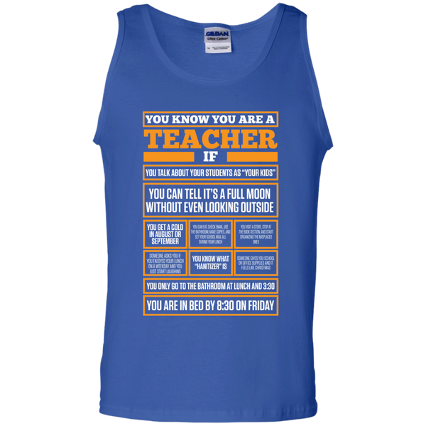 You know You are a Teacher if  100% Cotton Tank Top - TeachersLoungeShop - 3