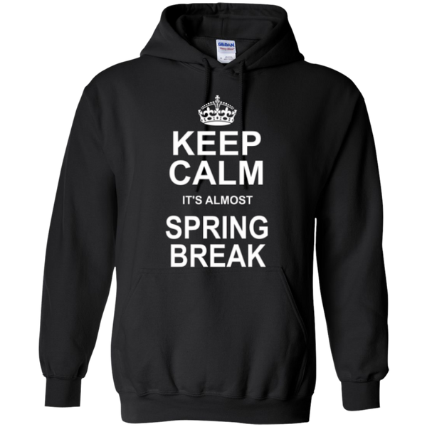 Keep Calm its almost Spring Break Teacher T-shirt Hoodie - TeachersLoungeShop - 7