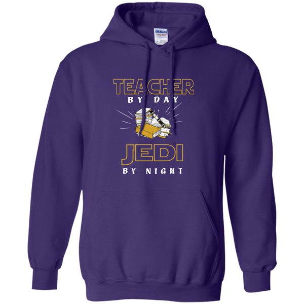 Teacher By Day Jedi By Night Ver2 Pullover Hoodie 8 oz - TeachersLoungeShop - 10
