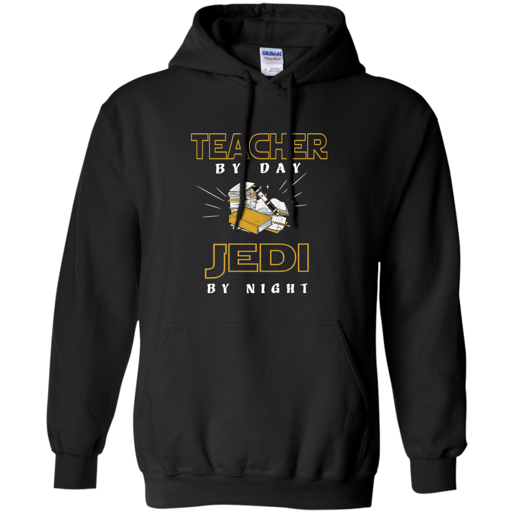 Teacher By Day Jedi By Night Ver2 Pullover Hoodie 8 oz - TeachersLoungeShop - 1