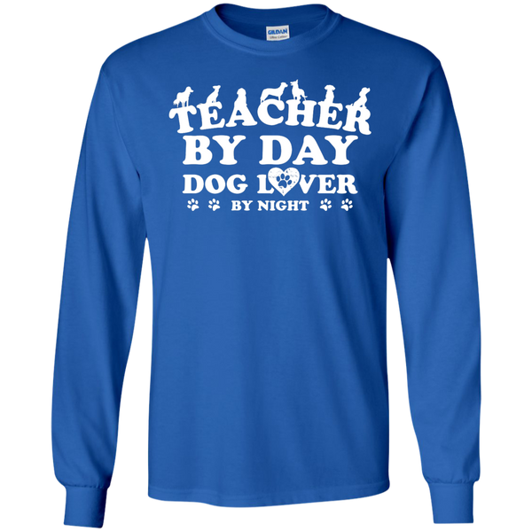 Teacher By Day Dog Lover by Night LS Ultra Cotton Tshirt - TeachersLoungeShop - 6
