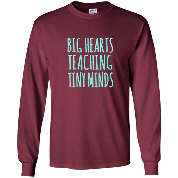Big Hearts Teaching Tiny Minds LS Ultra Cotton Tshirt - TeachersLoungeShop - 6
