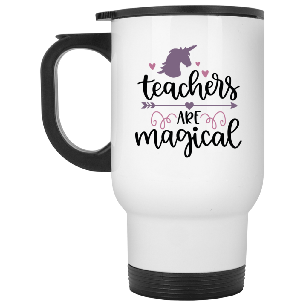 Teachers are magical  White Travel Mug