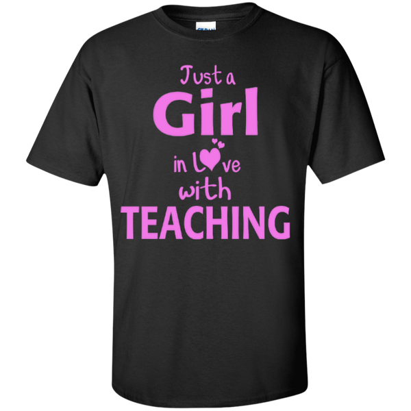 Just a Girl in Love with Teaching T-shirt Hoodie - TeachersLoungeShop - 2