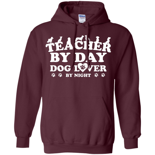 Teacher By Day Dog Lover by Night  Hoodie 8 oz - TeachersLoungeShop - 7