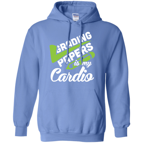 Grading papers is my cardio   Hoodie 8 oz - TeachersLoungeShop - 4