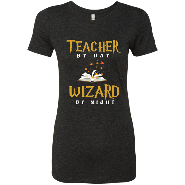 Teacher by Day Wizard by Night Next Level Ladies Triblend T-Shirt - TeachersLoungeShop - 5