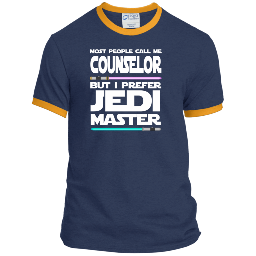 Most People Call Me Counselor But I Prefer Jedi Master Ringer Tee - TeachersLoungeShop - 1