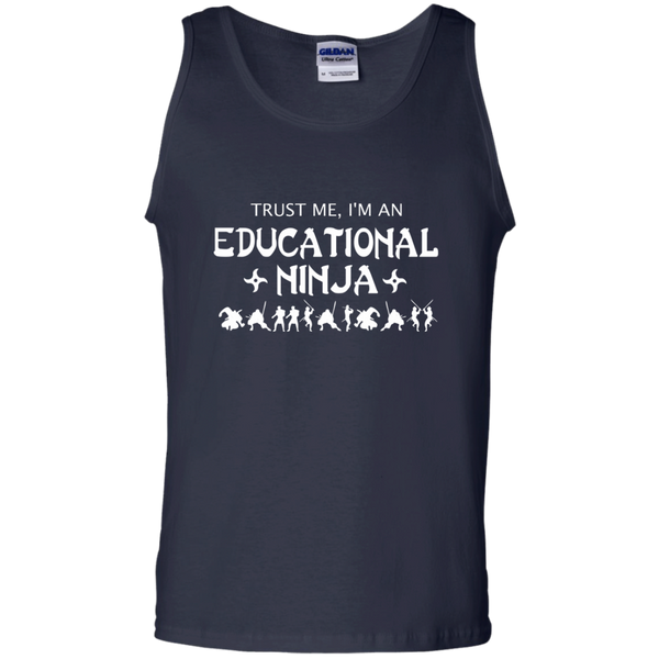 Trust Me I'm An Educational Ninja 100% Cotton Tank Top - TeachersLoungeShop - 2
