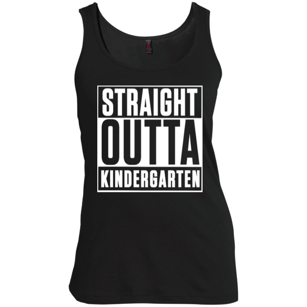 Straight Outta Kindergarten   Scoop Neck Tank Top - TeachersLoungeShop - 1