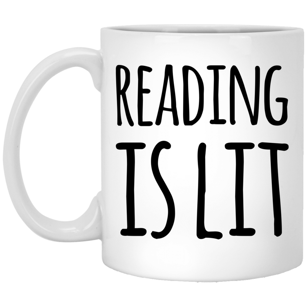 Reading is Lit   11 oz. White Mug