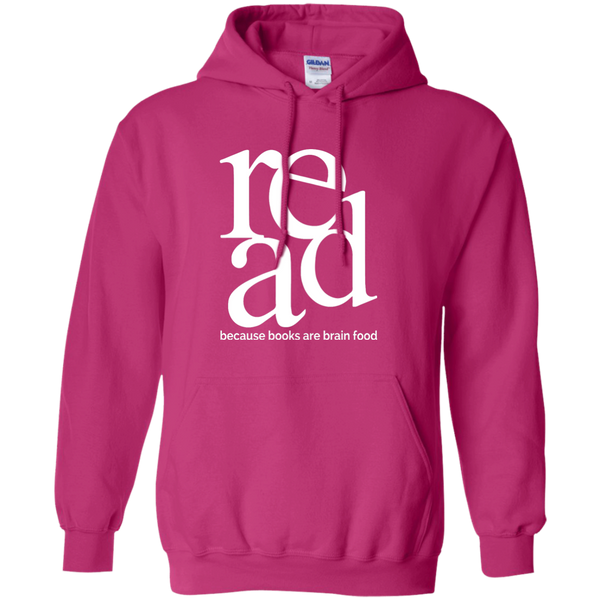Read Because Books Are Brain Food Pullover Hoodie 8 oz - TeachersLoungeShop - 3