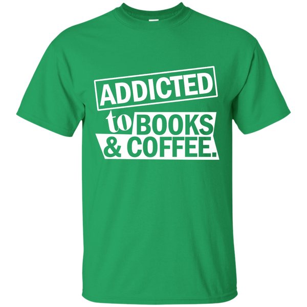 Addicted to Books and Coffee Cotton T-Shirt - TeachersLoungeShop - 4