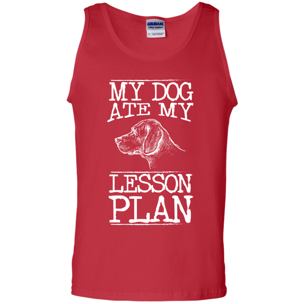 My Dog Ate my Lesson Plan 100%  Cotton Tank Top - TeachersLoungeShop - 3
