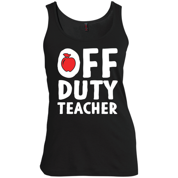 Off Duty Teacher Women's  Scoop Neck Tank Top - TeachersLoungeShop - 2