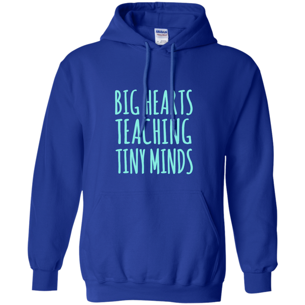 Big Hearts Teaching Tiny Minds Pullover Hoodie 8 oz - TeachersLoungeShop - 12