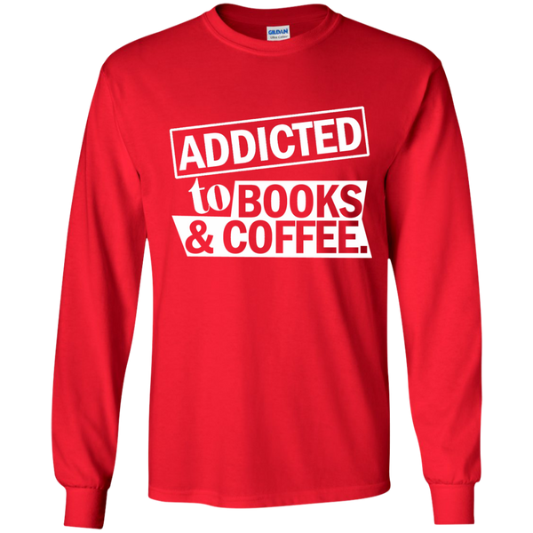 Addicted to Books and Coffee LS Ultra Cotton Tshirt - TeachersLoungeShop - 9